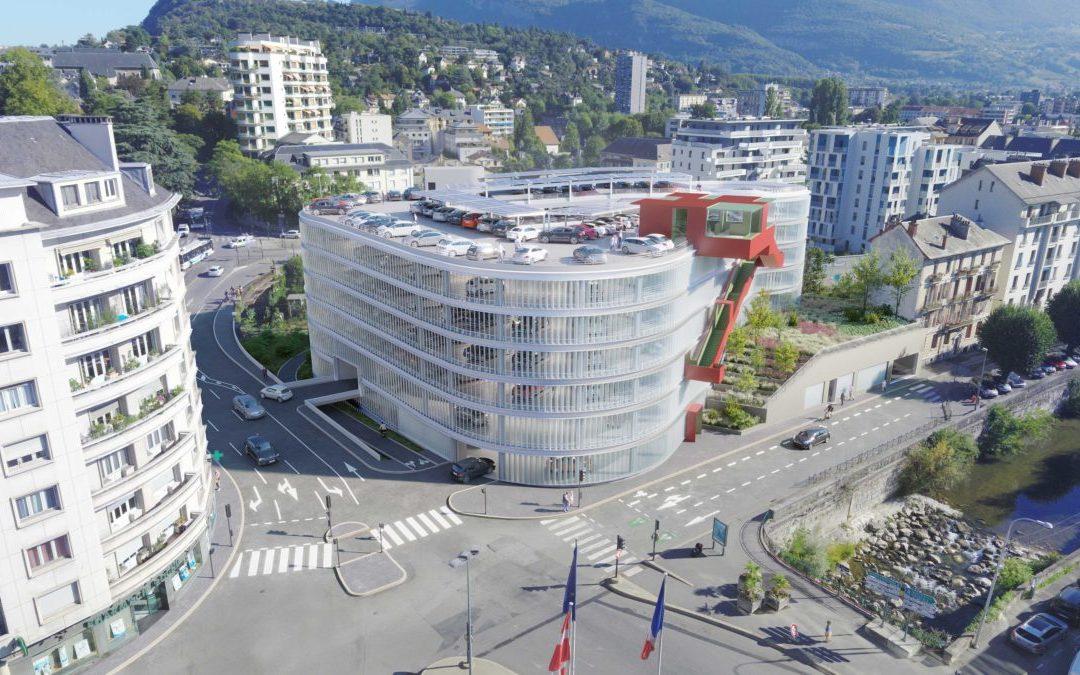 En chantier : parking Ravet, Chambéry