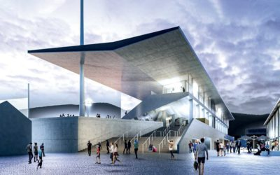 en chantier : le stade de Chambéry